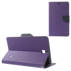 Mercury Goospery Fancy Diary Leather Shell for Samsung Galaxy Tab 4 7.0 T235 - Purple