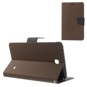 Mercury Goospery Fancy Diary Leather Shell for Samsung Galaxy Tab 4 7.0 T235 - Brown