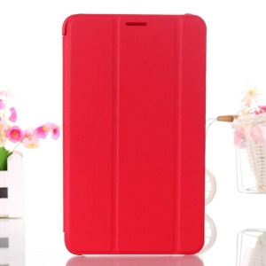 Red Tri-fold Leather Smart Case w/ Stand for Samsung Galaxy Tab 4 7.0 T230 T231 T235