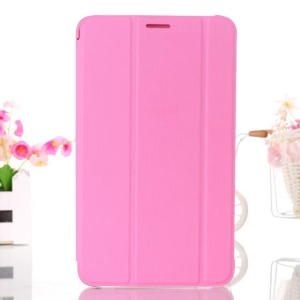 Pink Tri-fold Smart Leather Stand Case for Samsung Galaxy Tab 4 7.0 T230 T231 T235