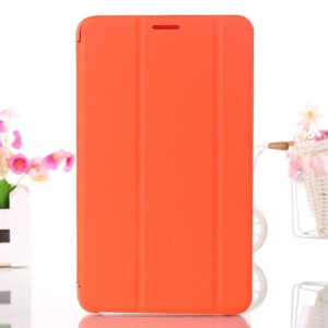 Orange Tri-fold Smart Leather Stand Cover for Samsung Galaxy Tab 4 7.0 T230 T231 T235