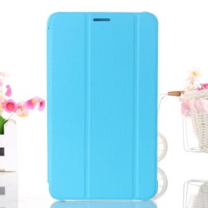 Baby Blue Tri-fold Smart Leather Case w/ Stand for Samsung Galaxy Tab 4 7.0 T230 T231 T235