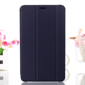 Dark Blue Tri-fold Smart Leather Cover w/ Stand for Samsung Galaxy Tab 4 7.0 T230 T231 T235