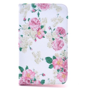 Blooming Peony Leather Stand Case for Samsung Galaxy Tab 4 7.0 T230 T231 T235