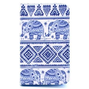 Elephant Geometric Pattern Leather Stand Cover for Samsung Galaxy Tab 4 7.0 T230 T231 T235
