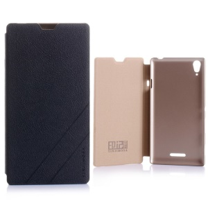YINJIMOSA Kasco Series Leather Case for Sony Xperia T3 D5102 D5103 D5106 - Black
