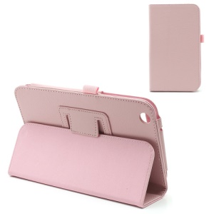 Pink Lychee Magnetic Leather Case Stand Holder for Samsung Galaxy Tab 3 8.0 T3100