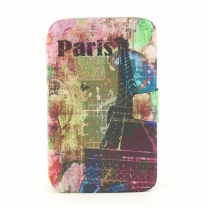 Smart Leather Rotating Stand Case for Samsung Galaxy Tab 3 8.0 T310  - Paris Eiffel Tower Print