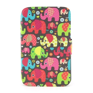 Smart Leather Stand Case for Samsung Galaxy Tab 3 8.0 T311  - Seamless Retro Elephant Kids