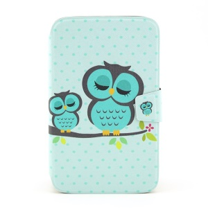 Smart Flip Leather Stand Cover for Samsung Galaxy Tab 3 8.0 T315  - Sleeping Owl on the Branch