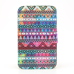 For Samsung Galaxy Tab 3 8.0 T310 Smart Flip Leather Rotating Stand Cover - Aztec Tribal Pattern