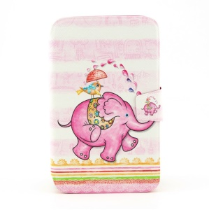For Samsung Galaxy Tab 3 8.0 T311 Smart Leather Rotating Stand Cover - Funny Elephant & Bird