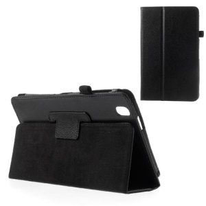 Black for Samsung Galaxy Tab Pro 8.4 T320 T321 T325 Litchi Leather Case w/ Stand