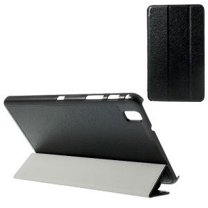 Black Silk Texture Tri-fold Stand Leather Case for Samsung Galaxy Tab Pro 8.4 T320 T321 T325