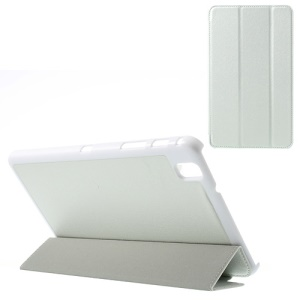 White Tri-fold Silk Texture Leather Stand Case for Samsung Galaxy Tab Pro 8.4 T320 T321 T325