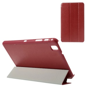 Red Tri-fold Silk Texture Leather Tablet Case for Samsung Galaxy Tab Pro 8.4 T320 T321 T325