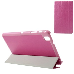 Rose for Samsung Galaxy Tab Pro 8.4 T320 T321 T325 Tri-fold Silk Texture Leather Folio Cover