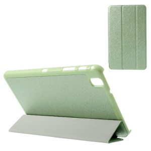 Green Tri-fold Stand Silk Texture Leather Skin Case for Samsung Galaxy Tab Pro 8.4 T320 T321 T325