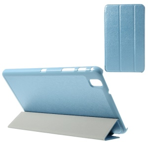 Baby Blue Tri-fold Silk Texture Leather Stand Cover for Samsung Galaxy Tab Pro 8.4 T320 T321 T325