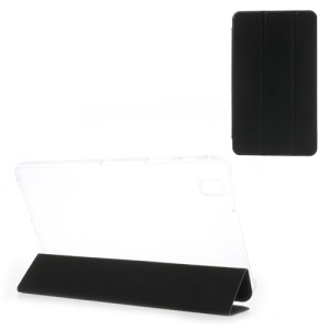Toothpick Grain Tri-fold Leather Case Stand for Samsung Galaxy Tab Pro 8.4 T320 T321 T325 - Black