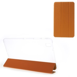 Toothpick Grain Tri-fold Leather Cover for Samsung Galaxy Tab Pro 8.4 T320 T321 T325 - Orange