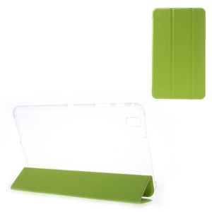 Toothpick Grain Tri-fold Leather Stand Case for Samsung Galaxy Tab Pro 8.4 T320 T321 T325 - Green