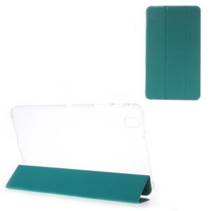Toothpick Grain Tri-fold Leather Stand Case for Samsung Galaxy Tab Pro 8.4 T320 T321 T325 - Cyan