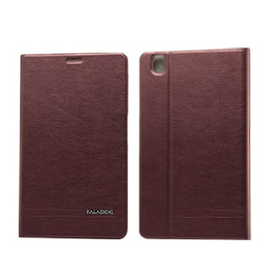 KLD KA Series for Samsung Galaxy Tab Pro 8.4 T320 T321 T325 Leather Stand Shell - Wine Red