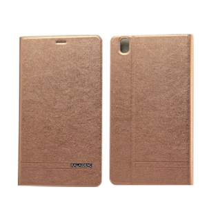 KLD KA Series for Samsung Galaxy Tab Pro 8.4 T320 T321 T325 Card Slot Leather Cover - Coffee