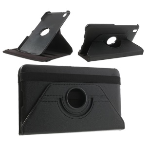 Black 360 Rotation Stand Litchi Leather Case for Samsung Galaxy Tab Pro 8.4 T320 T321 T325