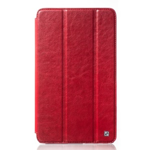 HOCO Crystal Series Retro Leather Tablet Case for Samsung Galaxy Tab Pro 8.4 T320 T321 T325 - Red
