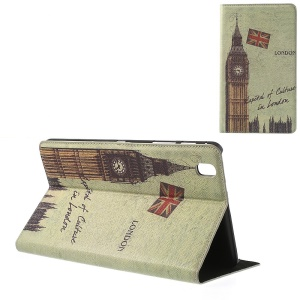 For Samsung Galaxy Tab Pro 8.4 T320 T321 T325 Retro London Big Ben Cross Leather Stand Cover