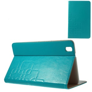 Crazy Horse PU Leather Stand Case for Samsung Galaxy Tab Pro 8.4 T320 T321 T325 - Baby Blue