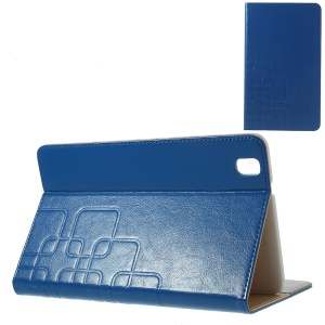 Crazy Horse Card Slots Leather Case for Samsung Galaxy Tab Pro 8.4 T320 T321 T325 - Dark Blue