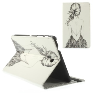 Sketch Beauty Leather Stand Case for Samsung Galaxy Tab 4 8.0 T330 T335