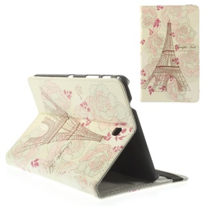 Roses & Eiffel Tower for Samsung Galaxy Tab 4 8.0 T330 T331 Leather Folio Stand Case