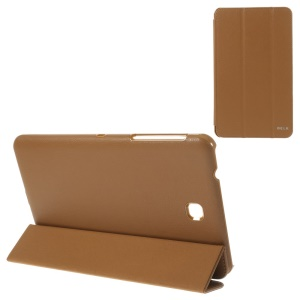 BELK Tri-fold Stand Smart Leather Cover for Samsung Galaxy Tab 4 8.0 T335 - Brown