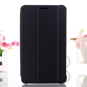Black Tri-fold Stand Leather Smart Case for Samsung Galaxy Tab 4 8.0 T330 T331 T335