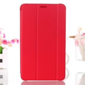 Red Tri-fold Leather Smart Cover w/ Stand for Samsung Galaxy Tab 4 8.0 T330 T331 T335