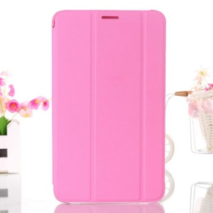 Pink Leather Smart Cover w/ Tri-fold Stand for Samsung Galaxy Tab 4 8.0 T330 T331 T335