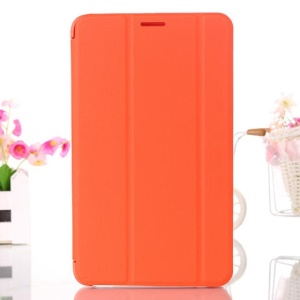 Orange Leather Smart Case w/ Tri-fold Stand for Samsung Galaxy Tab 4 8.0 T330 T331 T335