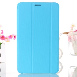 Baby Blue Smart Leather Cover w/ Tri-fold Stand for Samsung Galaxy Tab 4 8.0 T330 T331 T335