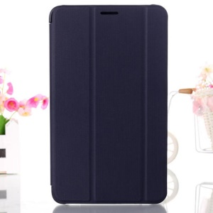 Dark Blue Tri-fold Smart Leather Stand Case for Samsung Galaxy Tab 4 8.0 T330 T331 T335