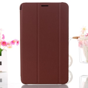 Brown Tri-fold Smart Leather Stand Cover for Samsung Galaxy Tab 4 8.0 T330 T331 T335