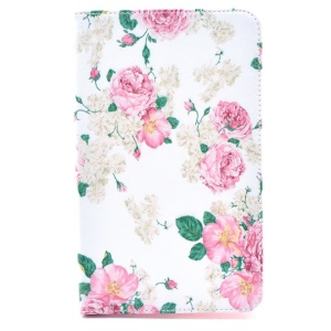 Fresh Flowers Smart Leather Stand Case for Samsung Galaxy Tab 4 8.0 T330 T331 T335