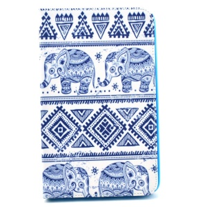 Elephant Geometric Pattern Smart Leather Stand Cover for Samsung Galaxy Tab 4 8.0 T330 T331 T335
