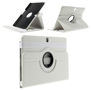 White 360 Rotation Stand Litchi Leather Case for Samsung Galaxy Tab Pro 10.1 T520 T525
