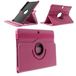 Rose for Samsung Galaxy Tab Pro 10.1 T520 T525 Litchi Leather Cover w/ 360 Rotary Stand