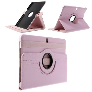 Pink 360 Swivel Stand Litchi Leather Case for Samsung Galaxy Tab Pro 10.1 T520 T525