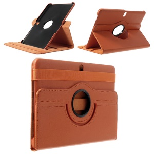 Orange 360 Swivel Litchi Leather Stand Shell for Samsung Galaxy Tab Pro 10.1 T520 T525